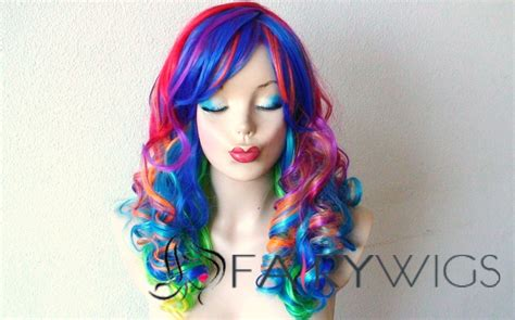 colorful wigs 22 inch wavy lace front colorful top quality high heated