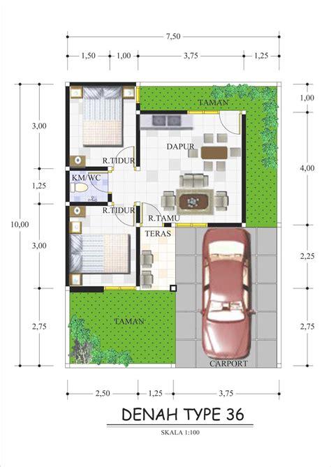 denah rumah type   gambar desain model rumah minimalis