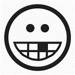 Toothless Smile Icon Laugh Funny Grin Emoticon