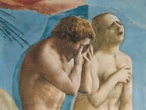 Image result for masaccio fresco adam and eve