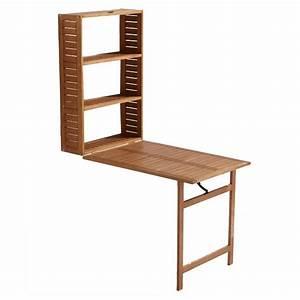 Table De Balcon Pliante : table balcon 2 en 1 en bois aland castorama table ~ Melissatoandfro.com Idées de Décoration