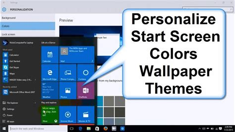 How Do I Change My Background How To Change Windows 10 Start Screen Colors Background