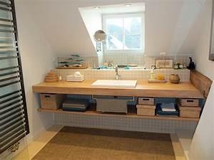 salle de bain flip design boisflip design bois With plan de travail en bois pour salle de bain