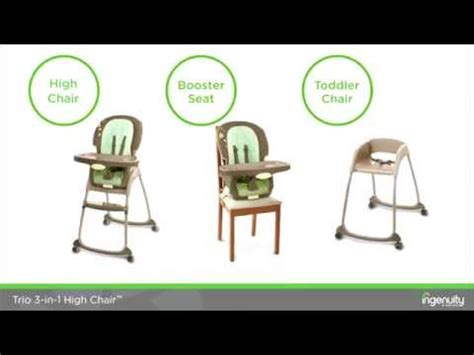 ingenuity trio   deluxe high chair youtube