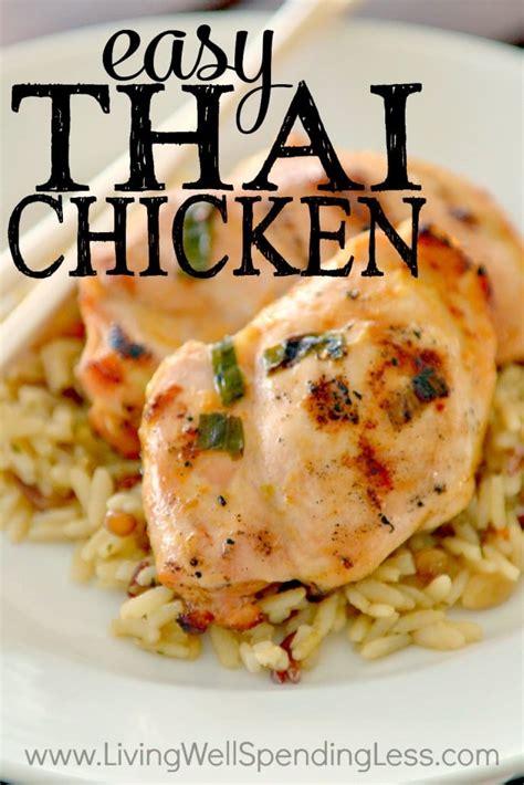 Easy Thai Chicken Recipe  Freezer Friendly Chicken Recipe