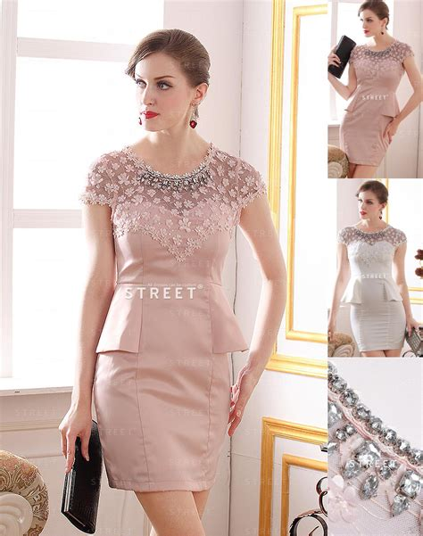Blush Lace Cocktail Party Dresses For Modish Ladies