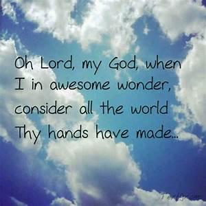 How great Thou art...   Hymns/Songs of Faith   Pinterest ...