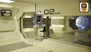 Sarang Facility - Comms nook #moon | Spaceship Interior ...