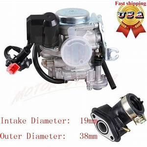 Gy6 Carburetor 50cc 49cc Scooter Moped Carb For Atv Gy6