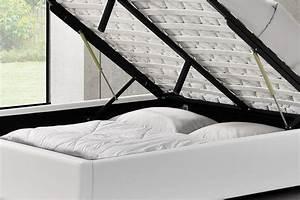 Cadre De Lit 160 : cadre de lit simple avec coffre de rangement kennington ~ Preciouscoupons.com Idées de Décoration
