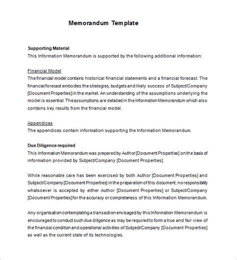Memorandum Template Free Memorandum Understanding Templates Filecloudleaf