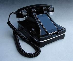 Telephone Filaire Retro : dock iphone t l phone filaire retro ~ Teatrodelosmanantiales.com Idées de Décoration