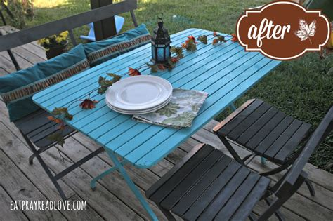 patio furniture redo eat pray read