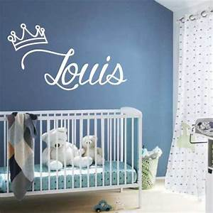 Autocollant Chambre Bébé : sticker chambre b b roi nom personnaliser ~ Melissatoandfro.com Idées de Décoration