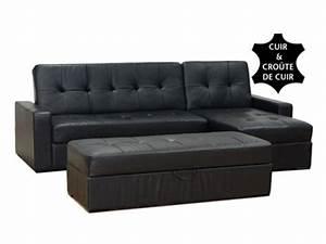 Canapé Noir Pas Cher : canap conforama canap convertible et r versible en cuir wendy coffre amovible pour ~ Dode.kayakingforconservation.com Idées de Décoration