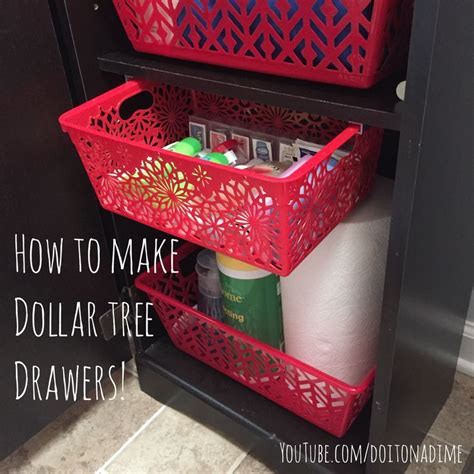 turn dollar tree bins  custom pull  drawers organizing organizing organizing