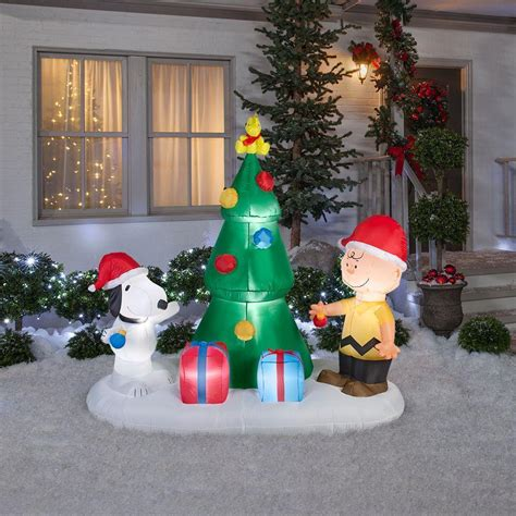 snoopy and charlie brown tree airblown christmas tree