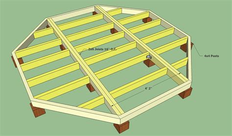 12x12 Platform Deck Plans by Octagon Deck Building Plans Wood Working