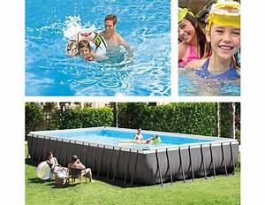 Grande Piscine Tubulaire : piscine tubulaire rectangulaire intex 9 75x4 88x1 32 m filtration ~ Mglfilm.com Idées de Décoration