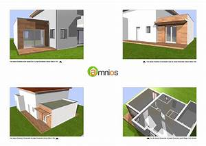 plan d39extension de maison en ossature bois a grenoble With plan garage bois gratuit