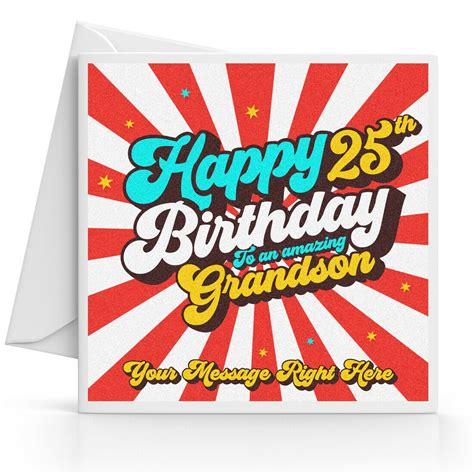 personalised  birthday card male son grandson nephew