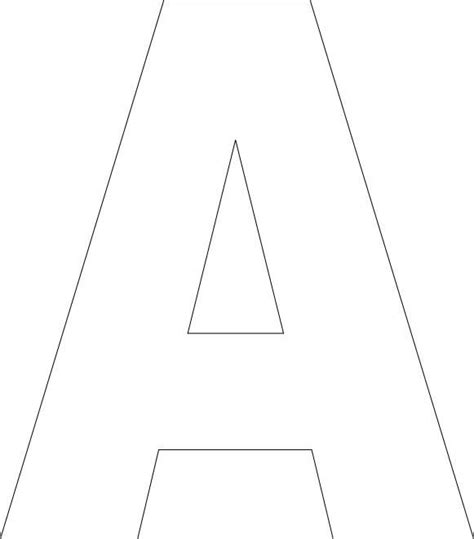 printable upper case alphabet template classroom