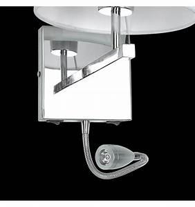 Moderne Wandleuchten Design : moderne wei wand leselampe mit chrom und stoff winter ~ Markanthonyermac.com Haus und Dekorationen