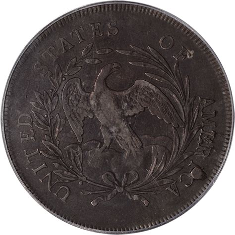 1796 Draped Bust Dollar - 1796 us draped bust silver dollar 1 large date small