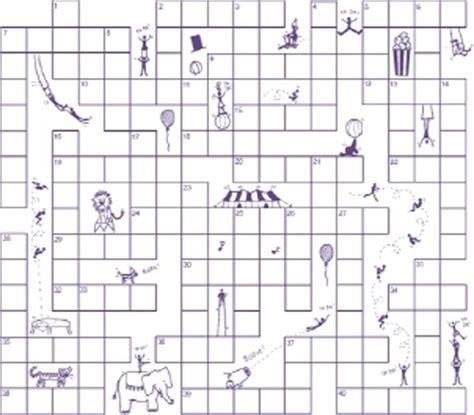 circus crossword puzzle puzzles  kids activities