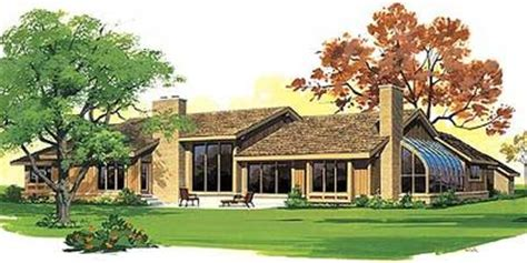 shaped ranch house plan  st floor master suite corner lot media game home theater