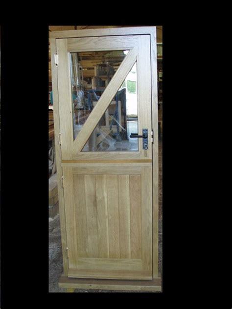 oak stable door glazed top halve  diagonal top brace