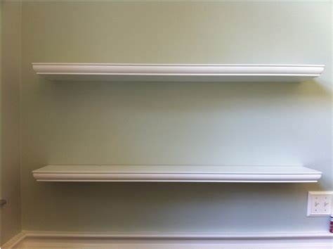 Floating White Shelf Home Design