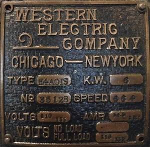 Western Electric Generator  U2013 New England Wireless  U0026 Steam