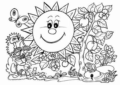 Coloring Nature Pages Around Popular Drawing