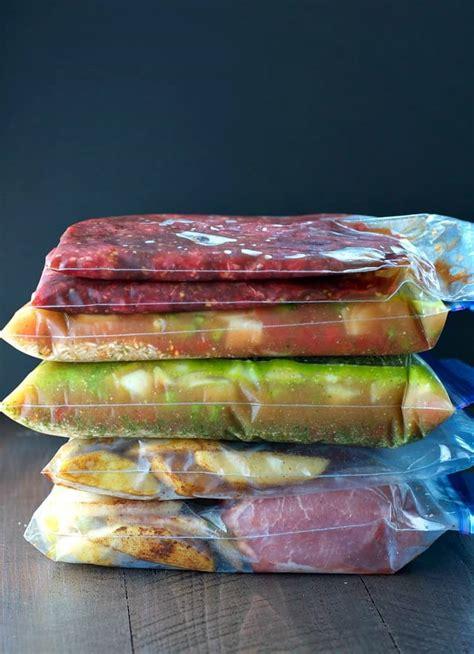 meals freezer healthy slow cooker minutes printable preparing seasoned mom shopping