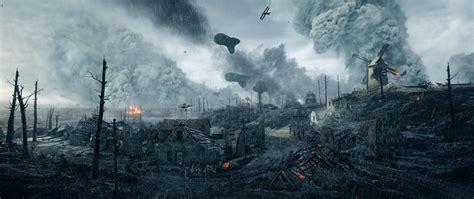 Wallpaper Battlefield 1 War 3D Graphics Rain Games Ruins