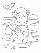 Swimming Drawing Bathing Coloring Suit Barbie Pool Getdrawings sketch template