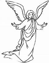 Angel Angels Coloring Pages Gabriel Drawing Awesome Line Clipart Print Mary Christmas Colouring Printable Preschool Sheets Getcolorings Getdrawings Mesmerizing Colorluna sketch template