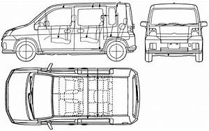 2005 Honda Mobilio Microvan Blueprints Free