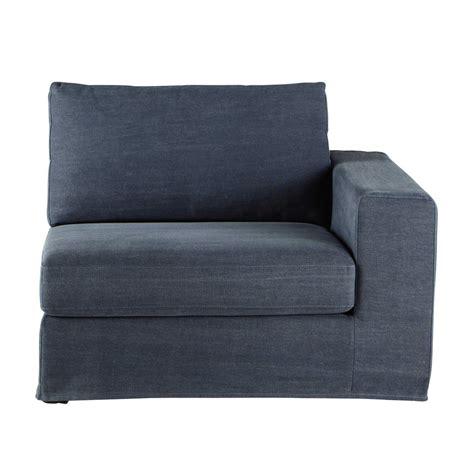 accoudoir de canapé accoudoir droit de canapé en coton gris bleuté anvers