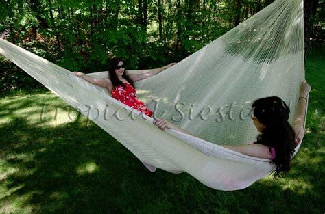 Big Hammocks by Large Cotton Mexican Mayan Hammock Bed Handwoven