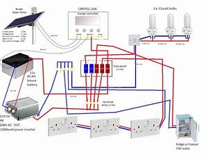 Solar Shed Project    Wiring Diagram