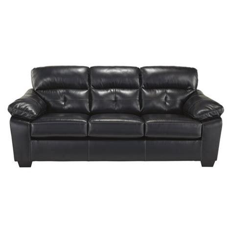 Ashley Bastrop Leather Full Size Sleeper Sofa In Midnight