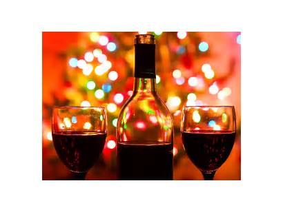Wine Holiday Christmas Bottle Background Lights Wines
