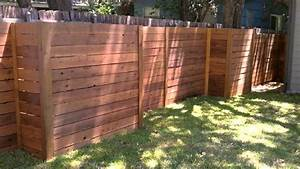 Horizontal Wood Fence Austin Texas 512-699-2825 - YouTube