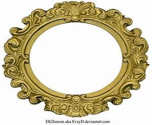 Ornate Gold Frame - Oval 2 by EveyD on DeviantArt