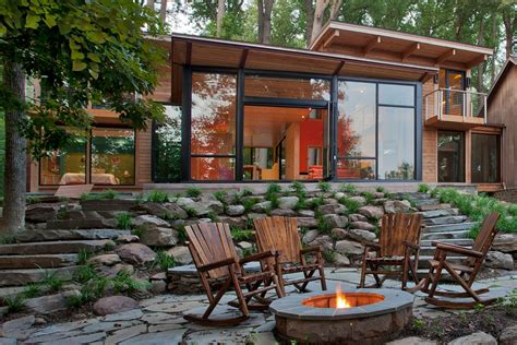 cabin patio patio rustic with view outdoor living mountain