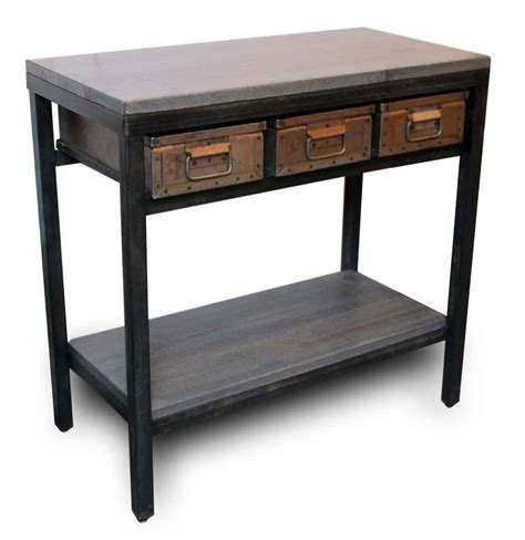 metal console table with drawers console table with three metal drawers olde good things