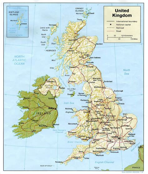 administrative  relief map  great britain great