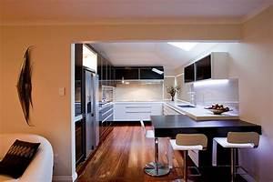 Black and white modern kitchen interior design ideas